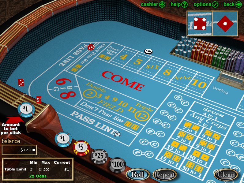 Craps Online Betting